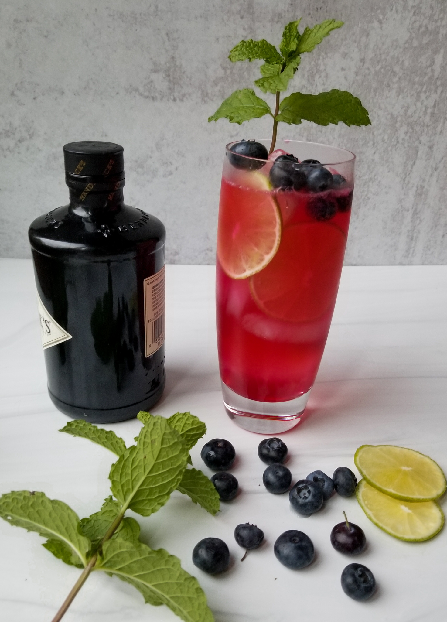 Blueberry Lime Gin and Tonic - Casual Foodist